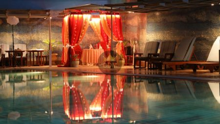 luxury cabana candlelight dinner in delhi